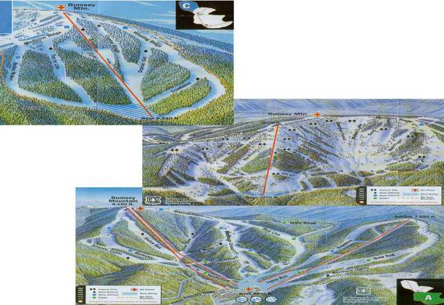 Discovery Ski Area Trail Map