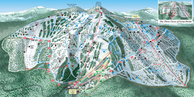 Great Divide Piste Map