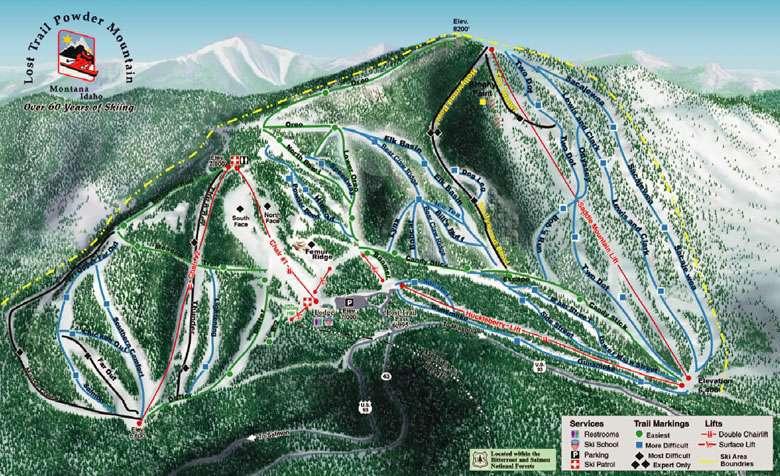 Worksheet. Lost Trail  Powder Mtn Trail Map
