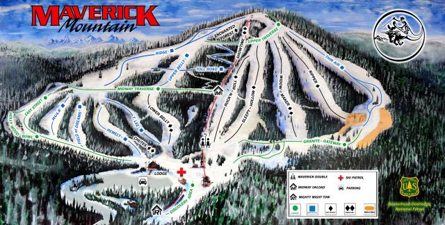Maverick Mountain Plan des pistes