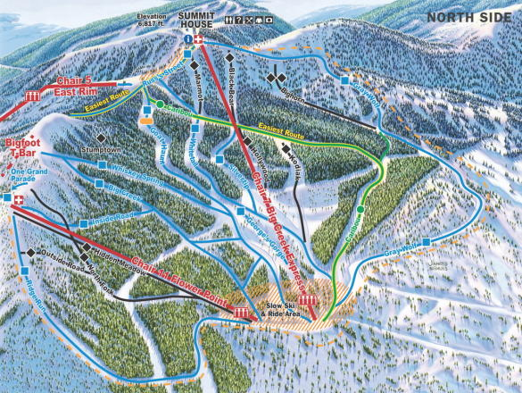 Whitefish Mountain Resort Trail Map | OnTheSnow