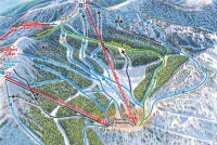 Whitefish Mountain Resort Mapa zjazdoviek
