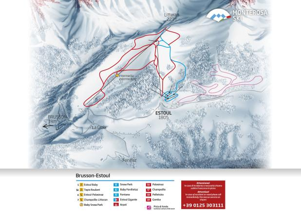 Brusson Trail Map