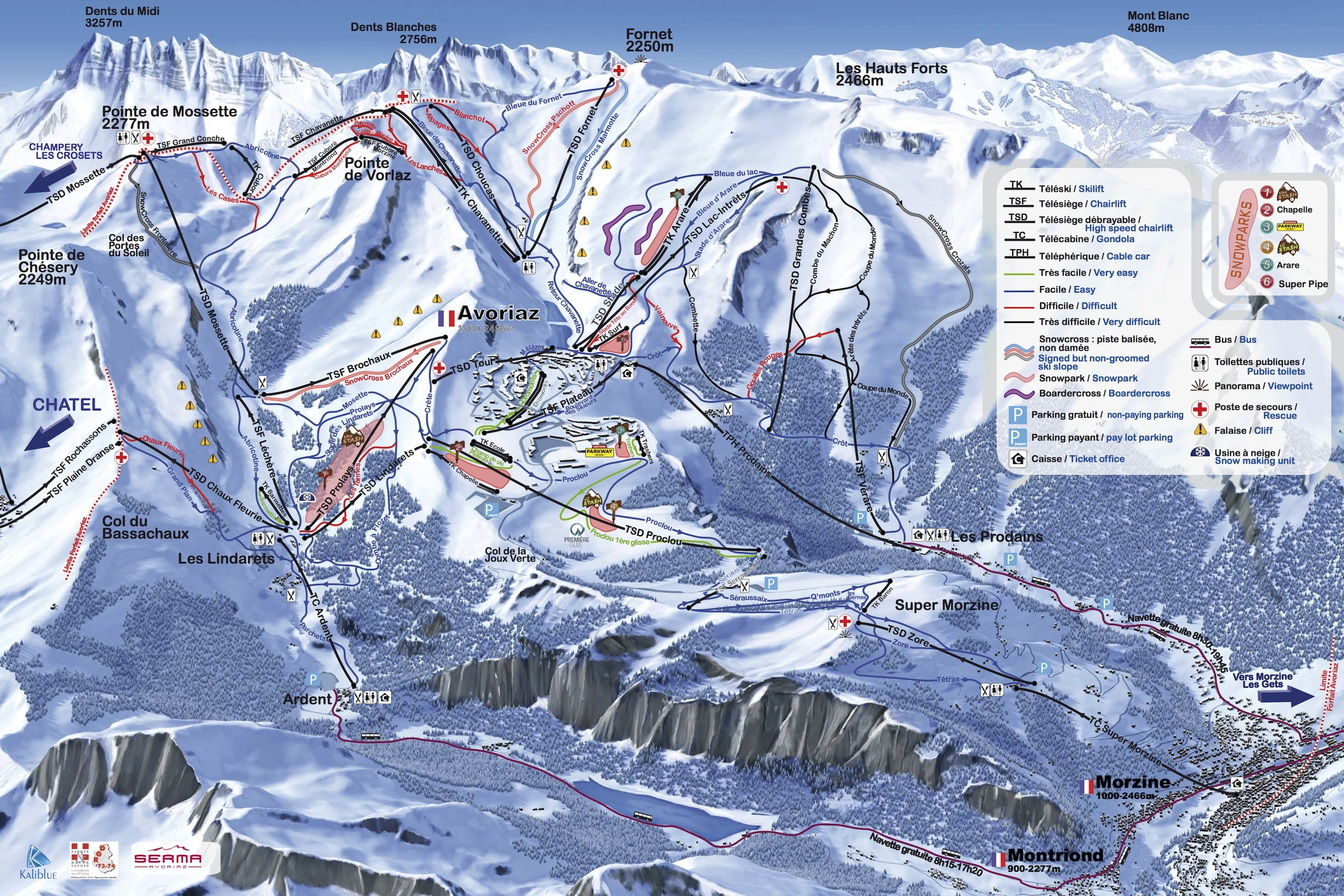 Avoriaz Piste Map Plan of ski slopes and lifts OnTheSnow