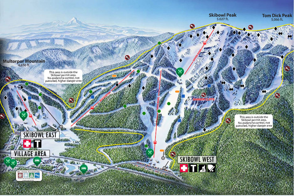 Mt Hood Skibowl Trail Map