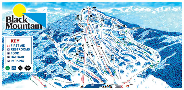 Black Mountain Mappa piste