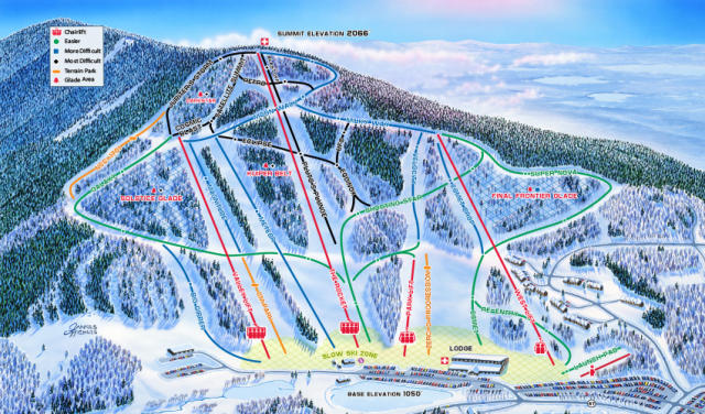 Crotched Mountain Mappa piste