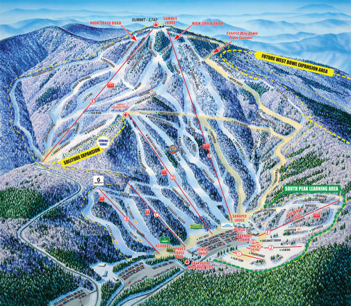 Mount Sunapee Piste Map