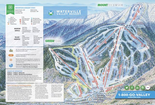 Waterville Valley Pistenplan