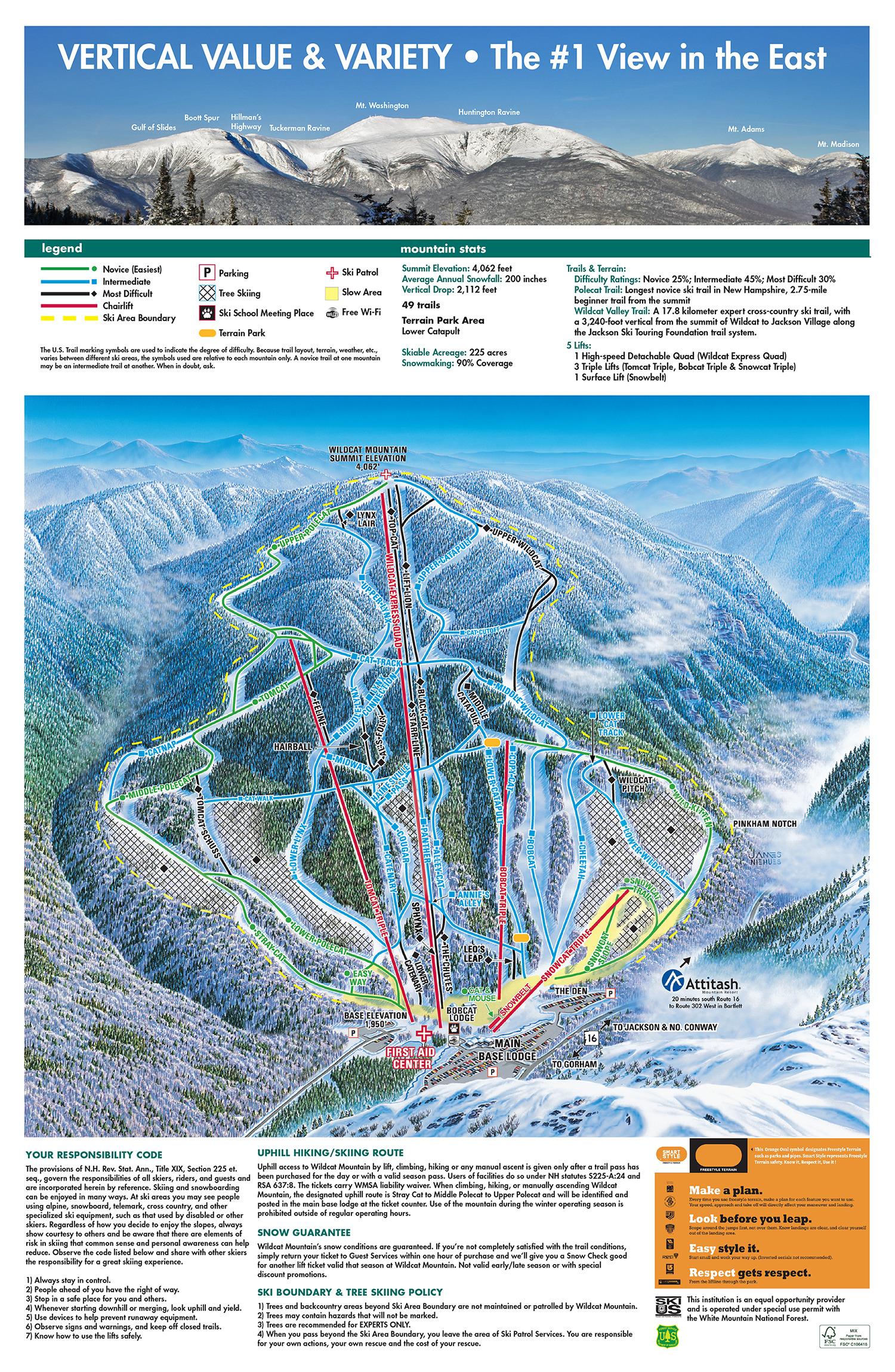 Wildcat Mountain Trail Map Onthesnow