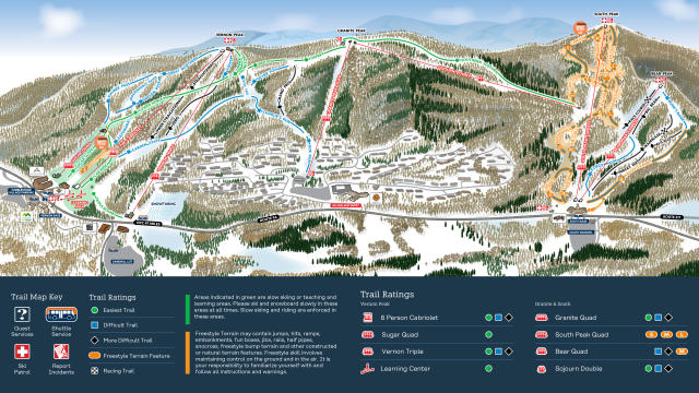 Mountain Creek Resort Plan des pistes
