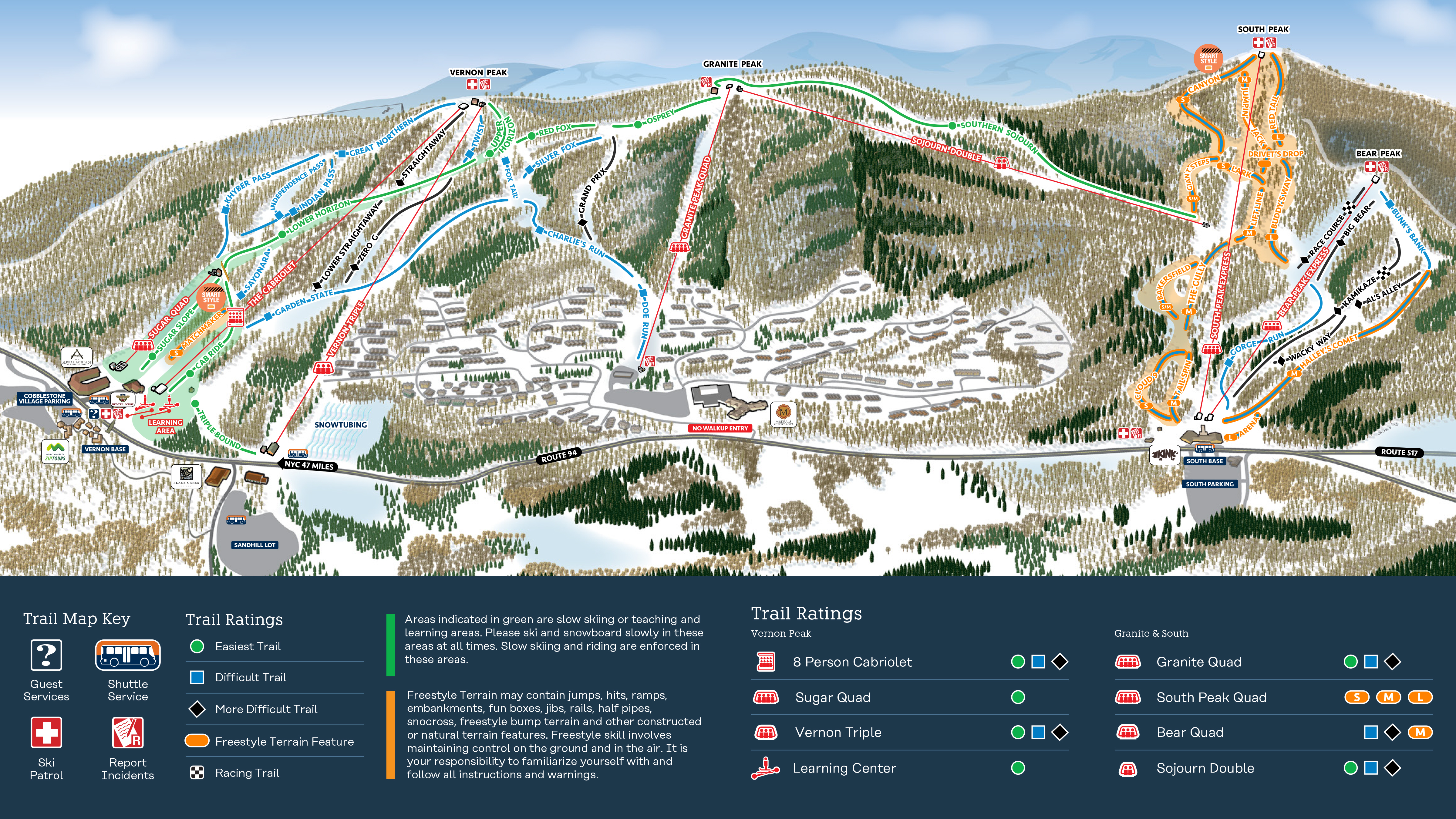 mountain creek resort snow report | onthesnow