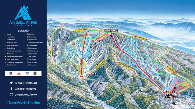 Angel Fire Resort Mappa piste