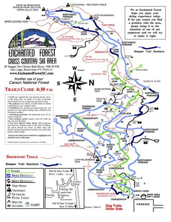 Enchanted Forest Ski Area Mappa piste