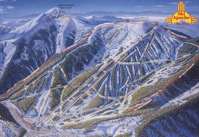 Ski Apache Trail Map