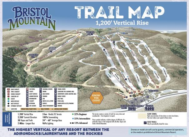 Bristol Mountain Trail Map