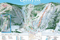 Greek Peak Trail Map