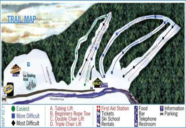 Holiday Mountain Trail Map