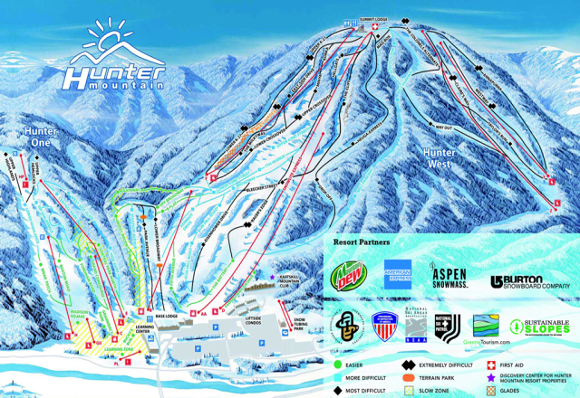 Hunter Mountain Piste Map