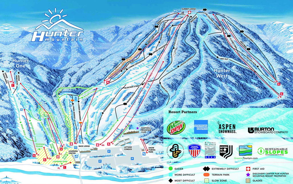 Hunter Mountain Trail Map | OnTheSnow