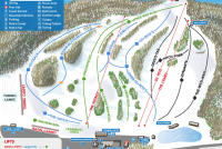 Mount Peter Ski Area Piste Map