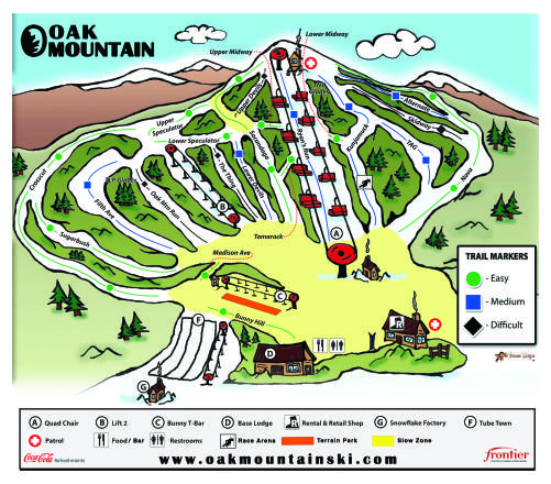 Oak Mountain Trail Map