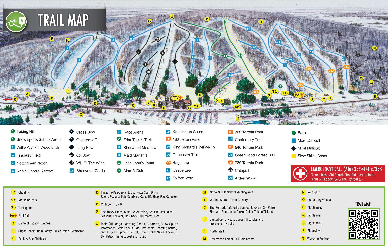 Peek\'n Peak Trail Map | OnTheSnow
