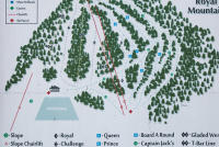 Royal Mountain Ski Area Trail Map