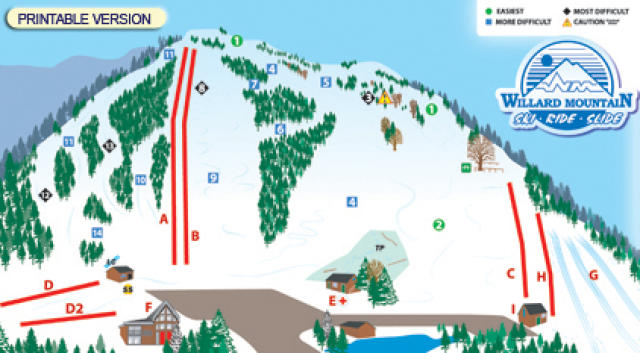 Willard Mountain Mappa piste