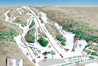 Woods Valley Ski Area Plan des pistes