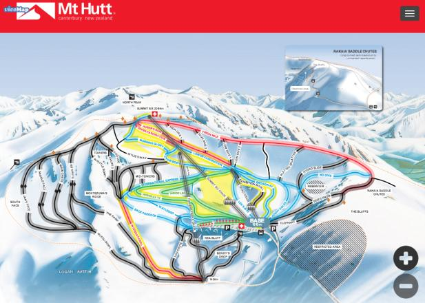 Mt. Hutt Ski Area Piste Map