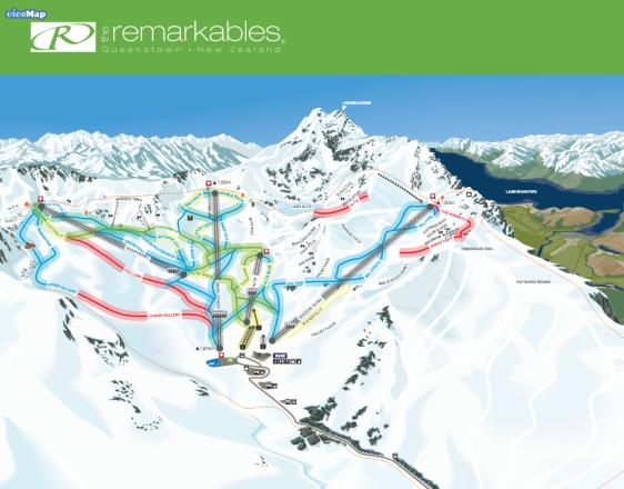 The Remarkables Plan des pistes