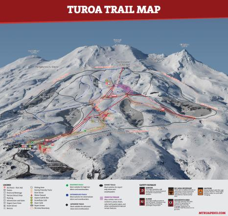 Turoa Trail Map