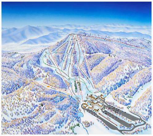 Beech Mountain Resort Mappa piste