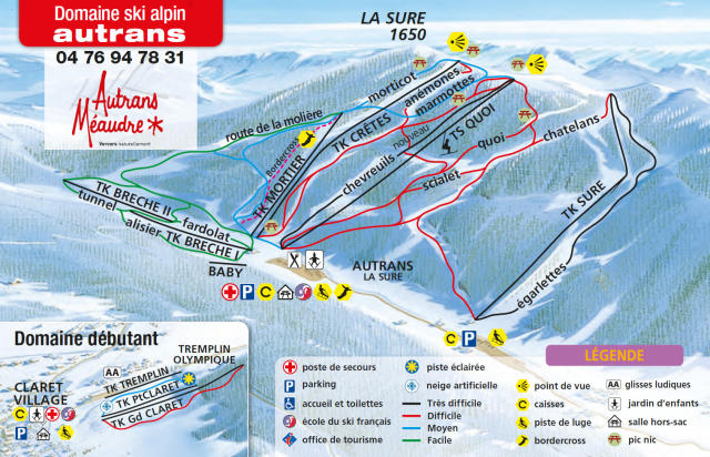 Autrans Piste Map