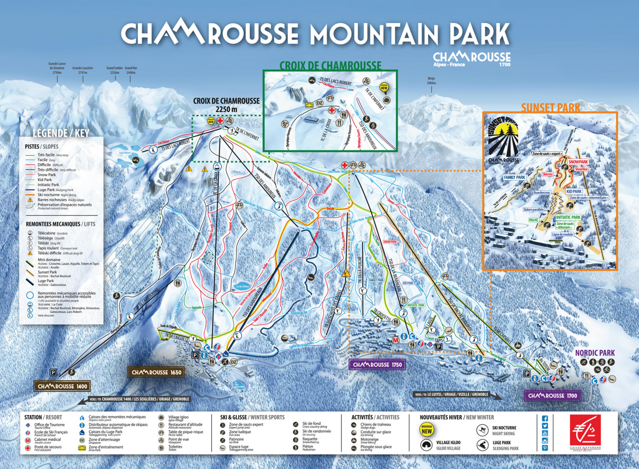 Map Of Drop Zones In France.Chamrousse Piste Map Plan Of Ski Slopes And Lifts Onthesnow