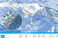 Col de Rousset Mappa piste