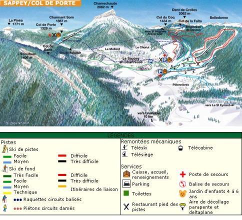 Le Sappey en Chartreuse Piste Map