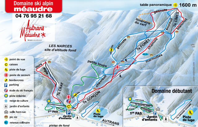 Méaudre Trail Map