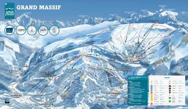Sixt Fer à Cheval Piste Map