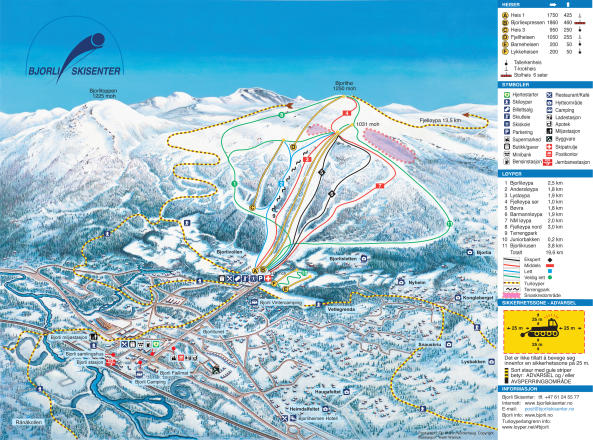 Bjorli Skisenter AS  Mappa piste