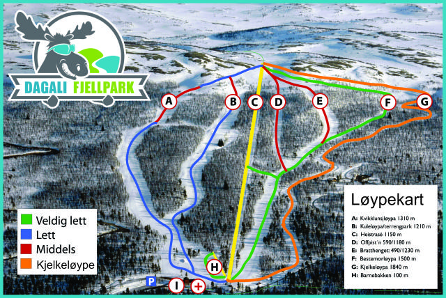 Dagali Skisenter Trail Map
