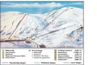 Eikedalen Skisenter MAPA DE PISTAS