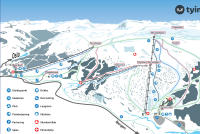 Tyin - Filefjell Plan des pistes