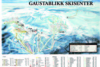 Gaustablikk Trail Map