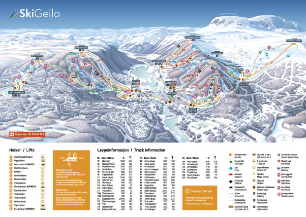 Geilo Trail Map
