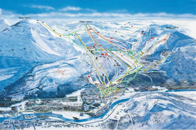 Hemsedal Trail Map