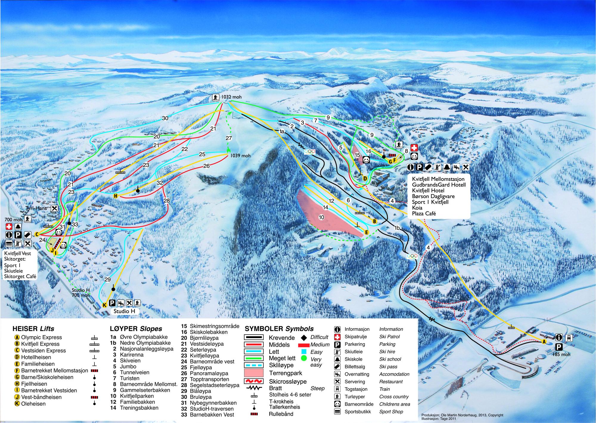 kvitfjell trail map | onthesnow