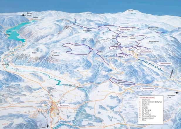Lifjell Skisenter Trail Map