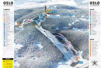 Oslo Vinterpark - Tryvann Piste Map